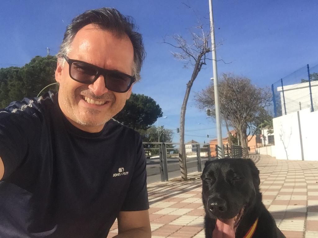 Marbella in lockdown , Dog walk