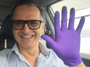 Wearing Gloves in Malaga while going for viewing in marbella nueva andulicia
