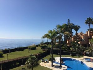 Pool with sea view in marbella spain which would be available in covid 19